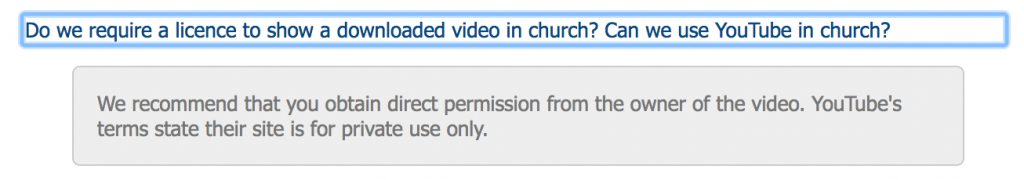 We recommend that you obtain direct permission from the owner of the video. YouTube's terms state their site is for private use only.